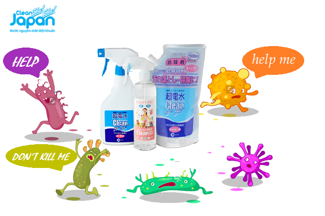 Cơ chế làm sạch và cơ chế diệt khuẩn của Clean Shu Shu Japan